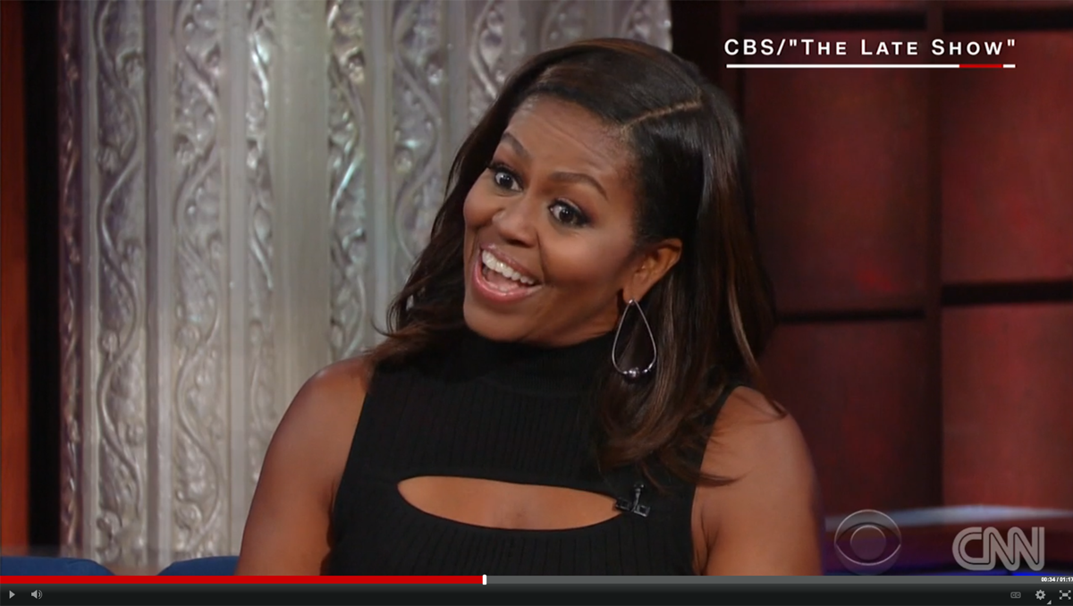 VIDEO: First Lady Michelle Obama impersonates the president