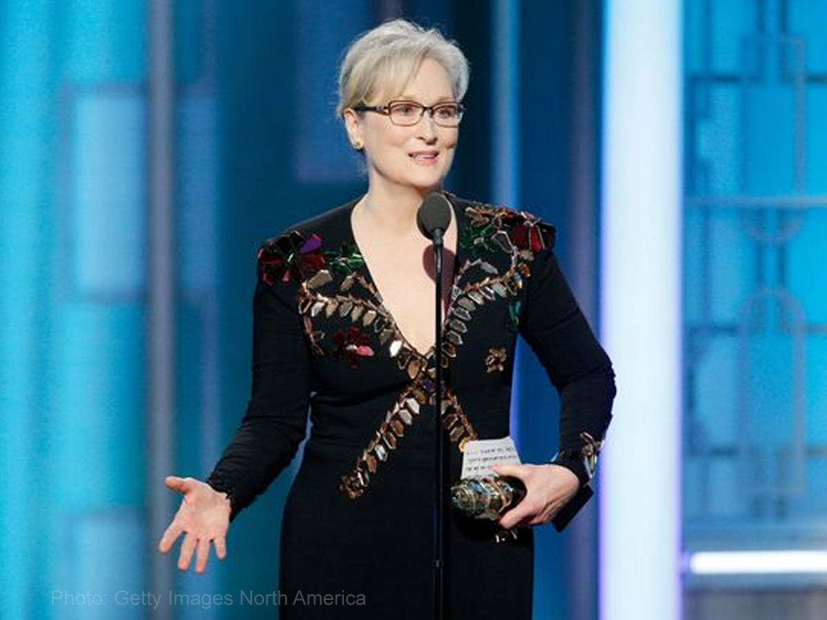 Meryl Streep calls out Trump in her Golden Globe speech