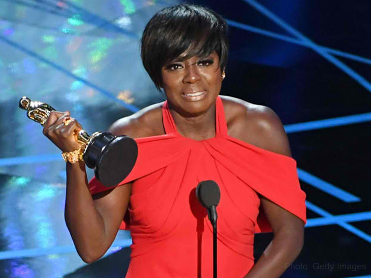 "Viola Davis wears the ""Triple Crown"" after historical Oscar win"