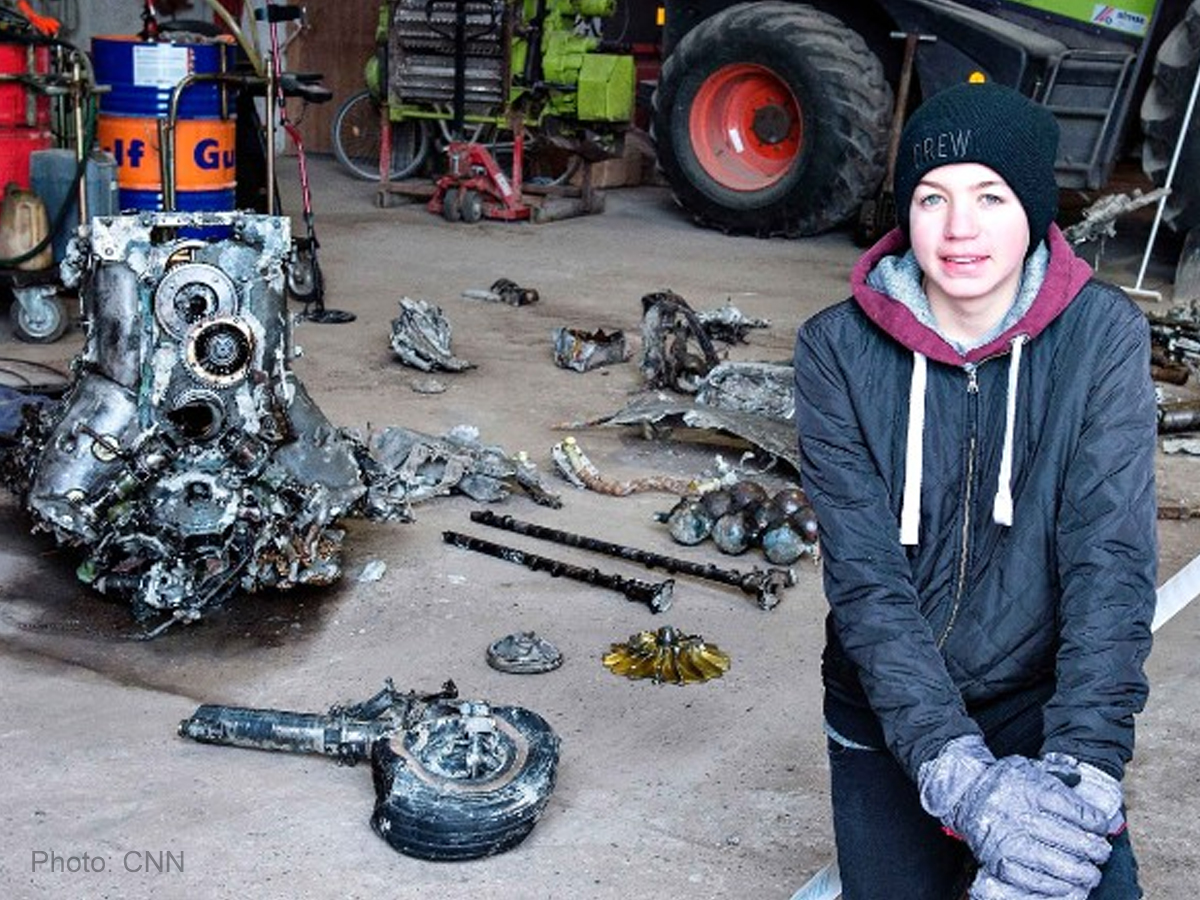 Danish student unearths WWII plane with pilot's remains