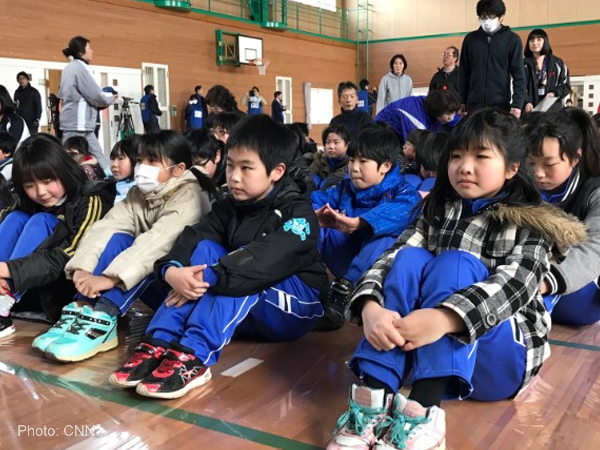 Japan performs evacuation drill for children in case of North Korean attack
