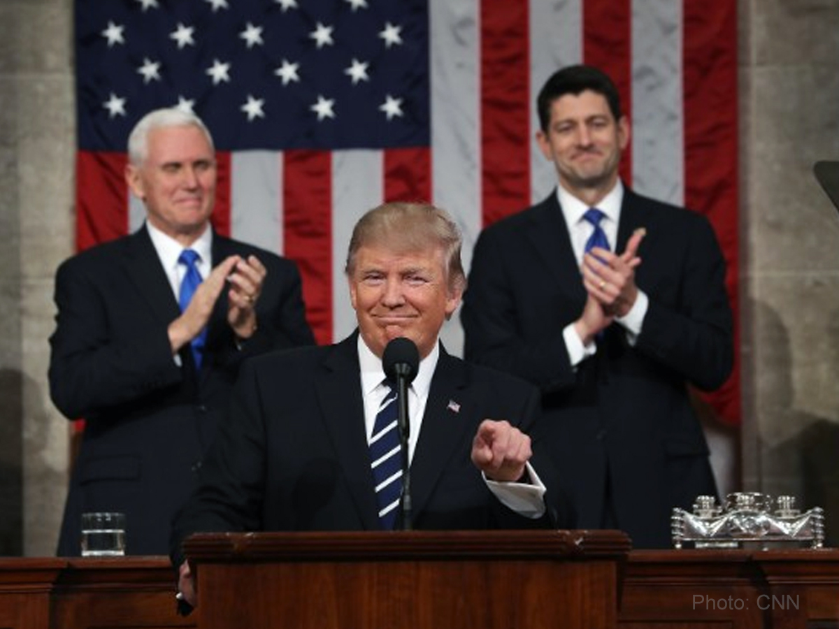 Trump more 'presidential' in first speech to congress