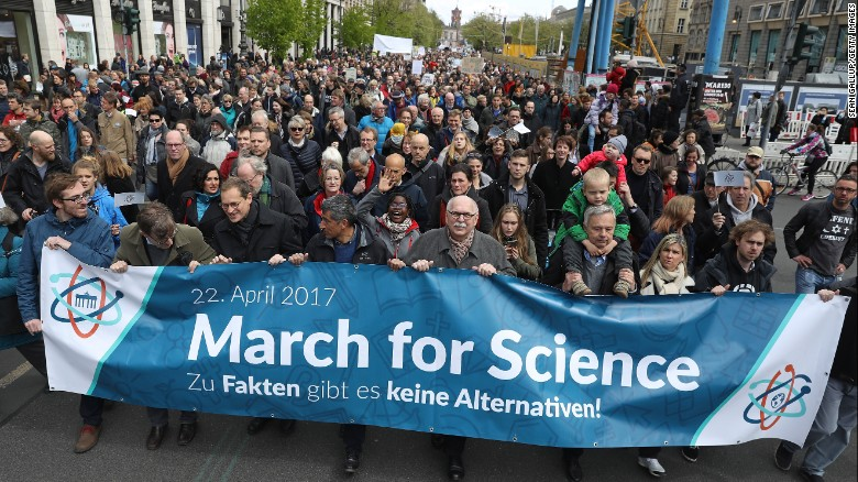 Protesters gather to support March for Science