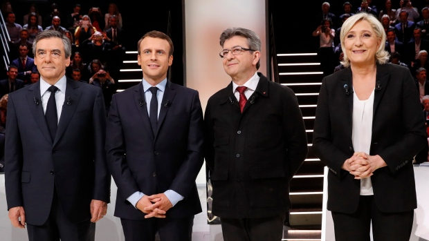 Le Pen, Macron lead polls in French presidential election