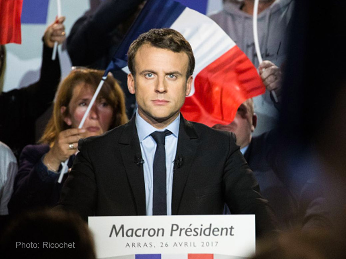 French candidate Macron's presidential campaign leaks online