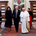 President Donald Trump meets with Pope Francis for the first time