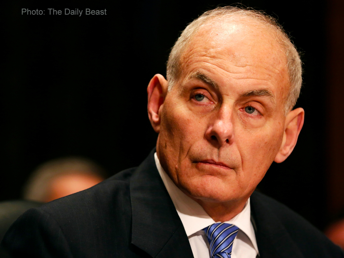 John Kelly sits as new White House Chief of Staff