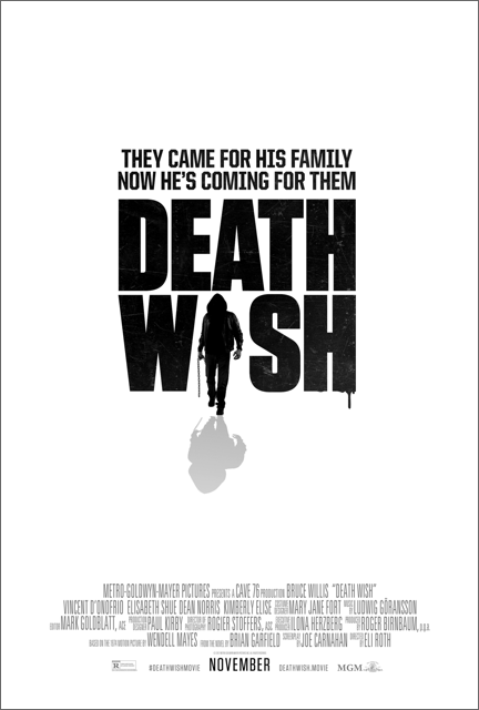 Movie Trailer:  'Death Wish' Starring Bruce Willis and Kimberly Elise