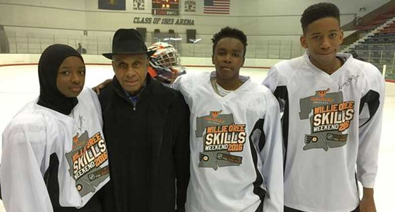 BLACK NHL LEGEND SUPPORTS THE YOUTH