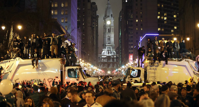 Philadelphia fans create havoc after Super Bowl Win