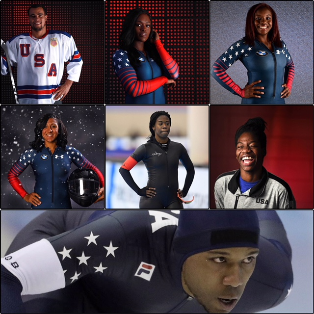 (SPORTS) 7 Black olympians posting on 2_12_18