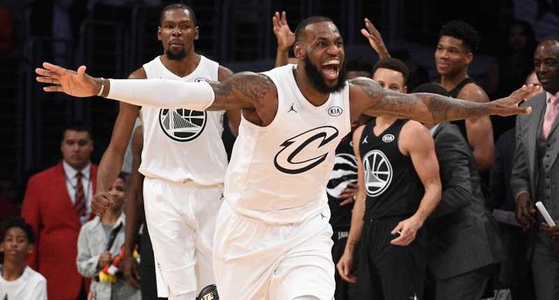 TEAM LEBRON DEFEATS TEAM STEPHEN IN NBA ALL-STAR GAME