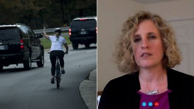Cyclist Who Flipped Off Trump Motorcade Will Run For Office In Virginia