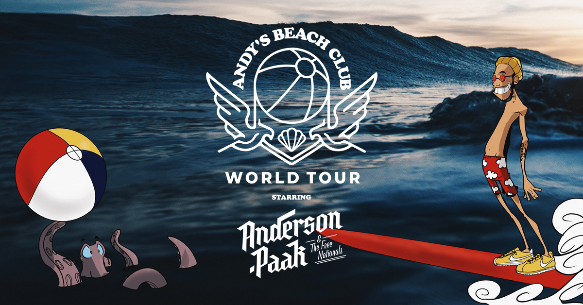 Anderson .Paak Announces Andy's Beach Club World Tour